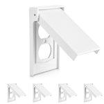 Cable Matters 5 Pack Weather Resistant Duplex Wall Plate/Vertical Outdoor Outlet Cover