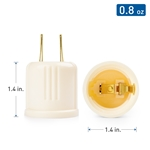 Cable Matters 2-Pack 125V/660W AC Outlet to Light Bulb Adapter