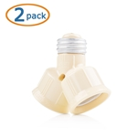 Cable Matters 2-Pack 125V/660W Light Bulb Socket Splitter