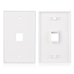 Cable Matters 2-Pack 1-Port Keystone Jack Wall Plate with Cat6 RJ45 Insert in White