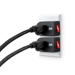 Cable Matters 3 Pack Grounded Outlet with ON OFF Switch / Single Outlet with Switch