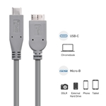Cable Matters USB-IF Certified USB C to Micro USB 3.1 Gen 2 Cable (Works With Chromebook Certified) 10 Gbps 1.5 Feet