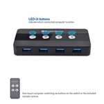 Cable Matters 4-Port USB 3.0 Switch with Remote Control