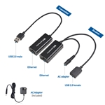 Cable Matters USB 2.0 Extender over Ethernet with Power Adapter