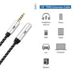 Cable Matters 2-Pack 3.5mm Stereo Audio TRRS Extension Cable