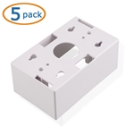 Cable Matters 5-Pack Single Gang Low Voltage Surface Mount Backbox