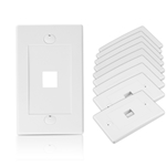 Cable Matters 180016 [Ul Listed] 10-Pack 1 Port Keystone Wall Plate (Cat6/ CAT5E Ethernet Wall Plate)