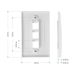 [UL Listed] Cable Matters 10-Pack 3 Port Keystone Wall Plate (Cat6 / Cat5e Ethernet Wall Plate)