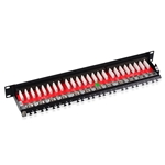 Cable Matters Rackmount or Wallmount 24-Port Cat6a Shielded RJ45 Patch Panel with Jack Shutter