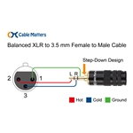 Cable Matters (1/8 Inch) 3.5mm to XLR Cable (XLR to 3.5mm Cable) Male to Female