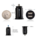 Cable Matters 2-Pack 10W/2A Mini Dual USB Car Charger in Black