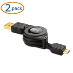 Cable Matters FBA_200022X2 (2-Pack Gold-Plated Retractable USB to Micro-USB Charge & Sync Cable 2.5 Feet