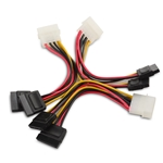 Cable Matters 3 Pack 4 Pin Molex to Dual SATA Power Y-Cable Adapter