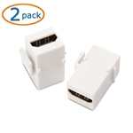 Cable Matters (2-Pack) Gold-Plated HDMI Keystone Jack Insert