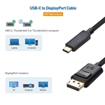 Cable Matters USB-C to DisplayPort Cable - 8K Ready