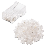 Cable Matters 100-Pack Cat 6 RJ45 Modular Plugs for Large Diameter Cable