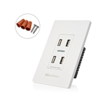 Cable Matters 4.8A 4-Port Charger Receptacle with Faceplate