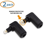 Cable Matters 2-Pack Right Angle Toslink Adapter
