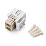 Cable Matters (5-Pack) LC Duplex Multimode Fiber Keystone Jack in Ivory