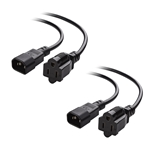 Cable Matters 2-Pack Computer Equipment to PDU Power Cord/Power Cable (IEC C14 to NEMA 15-5R) 1 Foot