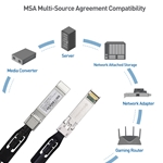 Cable Matters 10GBASE-CU Passive Direct Attach Copper Twinax SFP Cable (SFP+ Cable) Compatible with Cisco, Dell, Ubiquiti, D-Link, Juniper, Huawei, Mellanox, Mikrotik, Netgear, Supermicro Devices