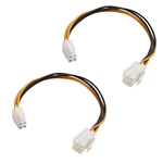 Cable Matters (2-Pack) ATX Power Supply 4-Pin CPU M/F Extension Cable