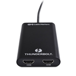 [Certified] Cable Matters Thunderbolt 3 to Dual HDMI Adapter for Mac & Windows Supporting Dual 4K 60Hz (Not Compatible with USB-C Ports Without The Thunderbolt Logo)