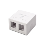 [UL Listed] Cable Matters (5 Pack) 2-Port Keystone Jack Surface Mount Box