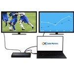 Cable Matters Dual Display USB C Dock (USB C Docking Station) with 60W PD for Windows - USB-C & Thunderbolt 3 Port Compatible for Dell XPS 13/15, Lenovo Yoga 910, HP Spectre x360 and More