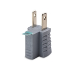 Cable Matters 3-Pack Polarized Grounding Adapter in Grey (3 Prong to 2 Prong Adapter) - Allows a 2-Prong Outlet to Accept 3-Prong Plugs
