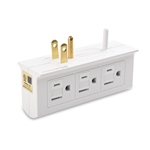 Cable Matters (2-Pack) 6-Outlet Grounded Side Access Wall Tap