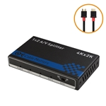Cable Matters 2 Port 4K 60Hz HDMI Splitter - Support 18Gbps HDMI 2.0, HDCP 2.2, 24 Bit RGB/YCBCR 4:4:4 Format