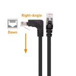Cable Matters Combo-Pack 90 Degree Cat 6 / Cat6 Right Angle Ethernet Cable (Right Angle Down + Right Angle Up)