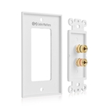 Cable Matters 2-Pack Speaker Wire Wall Plate (Speaker Wall Plate/Banana Plug Wall Plate) for 1 Speaker