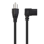Cable Matters 2-Pack 16 AWG Right Angle Power Cord (Power Cable) (NEMA 5-15P to Angled IEC C13)