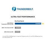 [Certified] Cable Matters Bus-Powered NVMe 480GB Thunderbolt 3 SSD Drive Up to 2400 MB/s Read (Not Compatible with USB-C Ports Without The Thunderbolt Logo)