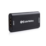 Cable Matters Powered 4K HDMI Extender (HDMI Repeater/HDMI Coupler) Up to Supporting HDMI 2.0 at 4K 60Hz with Power Supply for Oculus Rift and More