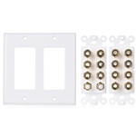 Cable Matters Double Gang 7.2 Speaker Wall Plate (Home Theater Wall Plate/Banana Plug Wall Plate)