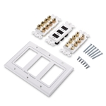 Cable Matters Triple Gang 7.2 Speaker Wall Plate with HDMI (Home Theater Wall Plate/Banana Plug Wall Plate)