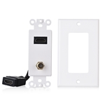 Cable Matters HDMI Wall Plate with Coax Outlet (Coax Wall Plate)