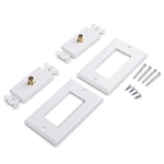 Cable Matters 2-Pack 1-Port TV Cable Wall Plate (Coax Wall Plate)