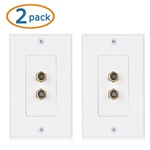 Cable Matters 2-Pack 2-Port TV Cable Wall Plate (Coax Wall Plate)