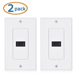 Cable Matters 2-Pack 1-Port HDMI Wall Plate (4K UHD, ARC, and Ethernet Pass-Thru Support)